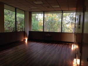 """Our """"tree house"""" yoga room at the Pursuit Training Center."""