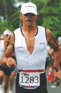 Coach Al on the run at the 2004 Hawaii Ironman World Championship