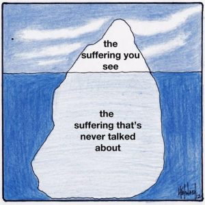Depression is like an iceberg...
