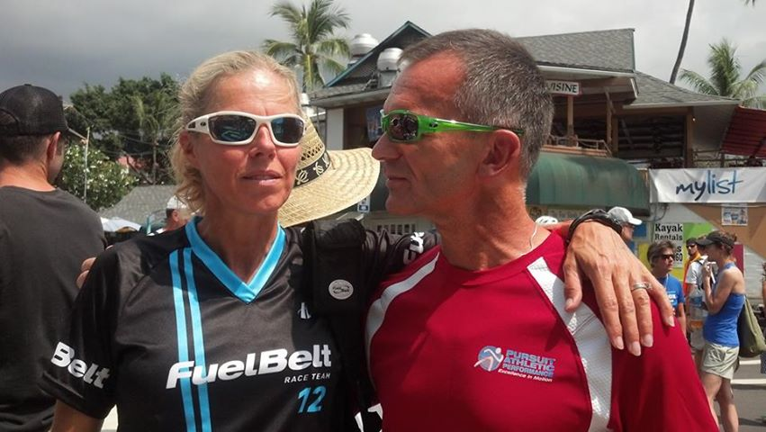 Ironman Age Group World Champion Lisbeth Kenyojn and Coach Al Lyman