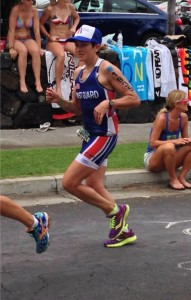Rachel on the run in Kona!