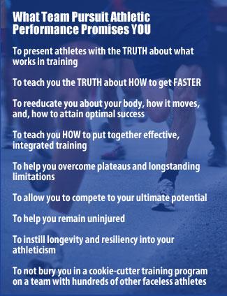 What Team Pursuit Athletic Performance promises YOU