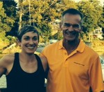 Rachel and Coach Al catching up on one of her recent visits to Connecticut